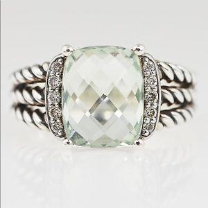 David Yurman Prasiolite Ring - Size 6